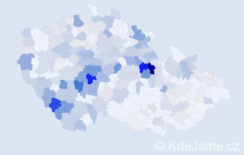 Příjmení: 'Jiroušková', počet výskytů 983 v celé ČR
