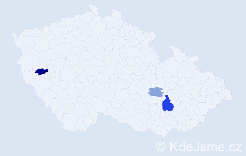 Příjmení: 'Gűtter', počet výskytů 6 v celé ČR