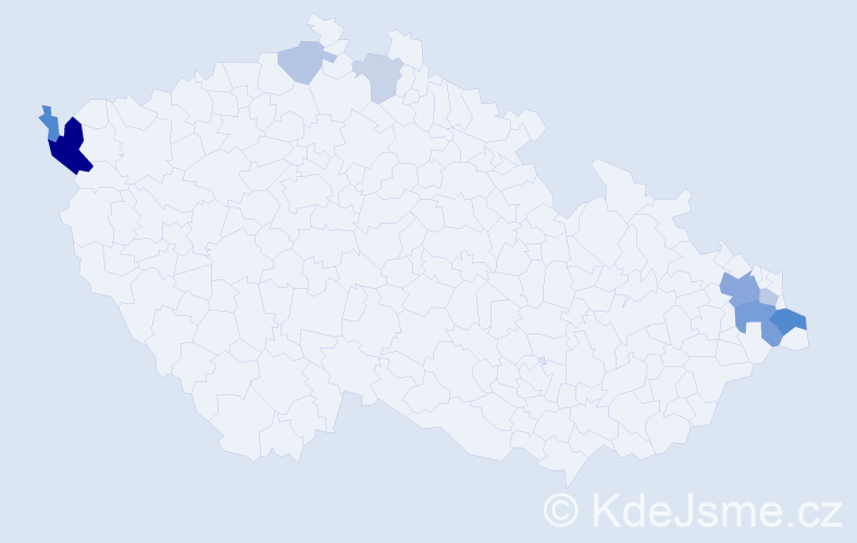 Příjmení: 'Čapanda', počet výskytů 21 v celé ČR