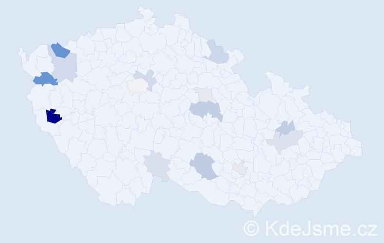 Příjmení: 'Fekiač', počet výskytů 35 v celé ČR