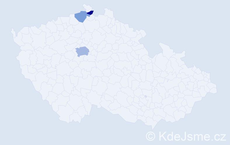 Příjmení: 'Asatryan', počet výskytů 7 v celé ČR