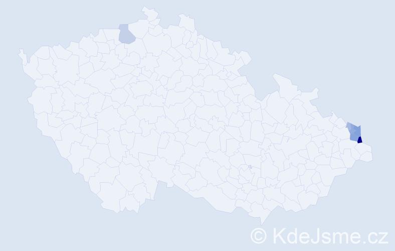 Příjmení: 'Ciasnocha', počet výskytů 19 v celé ČR