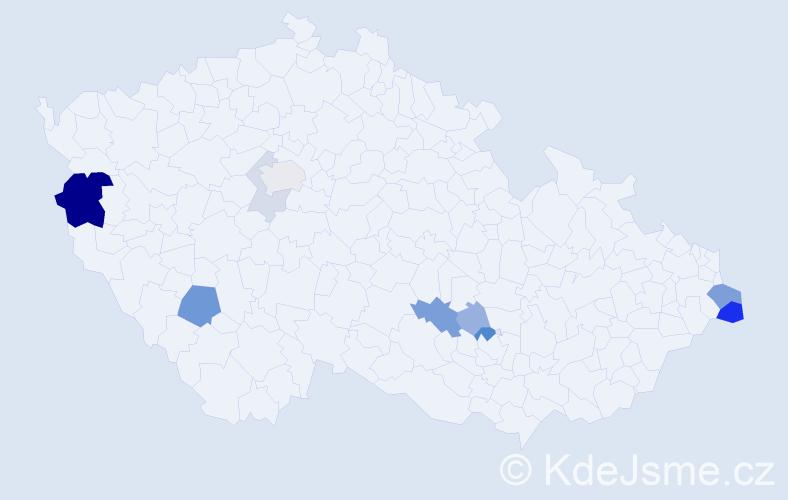Příjmení: 'Juzek', počet výskytů 24 v celé ČR