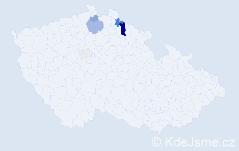 Příjmení: 'Biemannová', počet výskytů 11 v celé ČR
