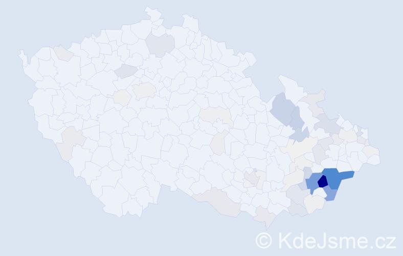 Příjmení: 'Gargulák', počet výskytů 274 v celé ČR