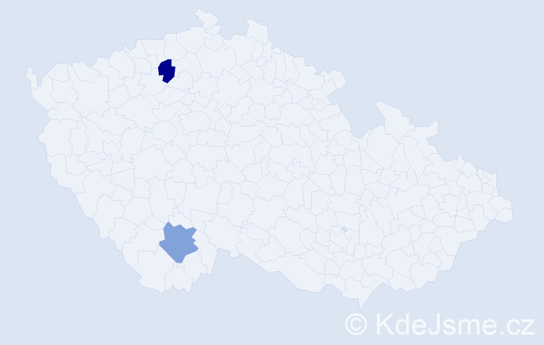 Příjmení: 'Hnůtová', počet výskytů 2 v celé ČR
