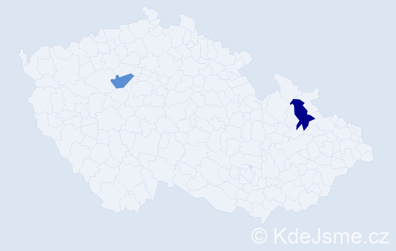 Příjmení: 'Gecašková', počet výskytů 2 v celé ČR