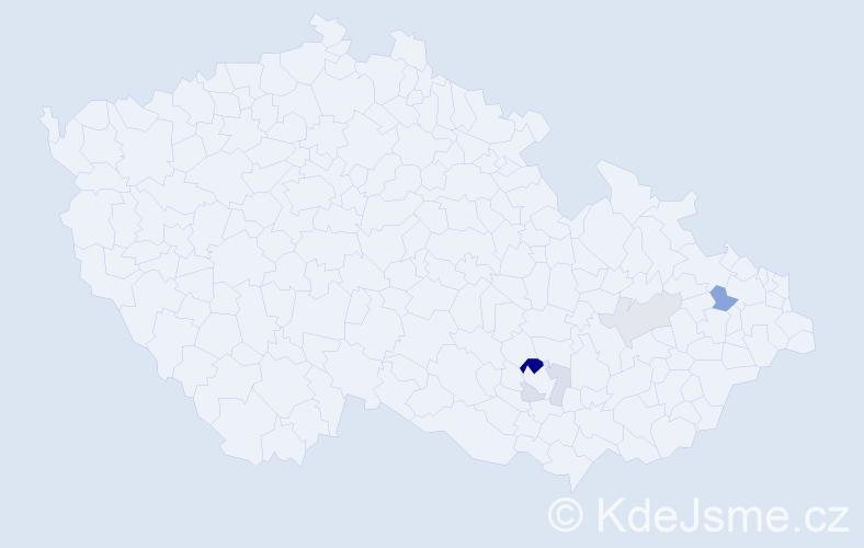 Příjmení: 'Leicher', počet výskytů 11 v celé ČR