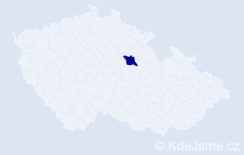 """Příjmení: '""""Chmelíková Klopcová""""', počet výskytů 1 v celé ČR"""
