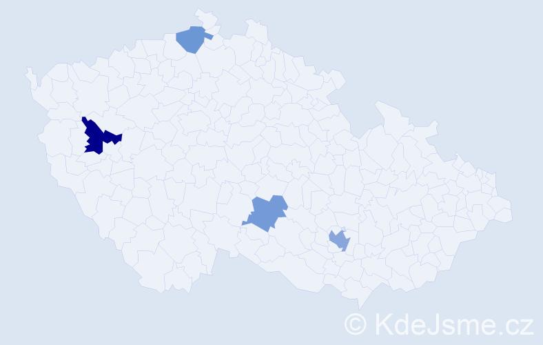 Příjmení: 'Boyer', počet výskytů 6 v celé ČR