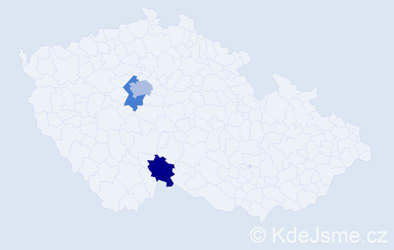 Příjmení: 'Ausobský', počet výskytů 4 v celé ČR