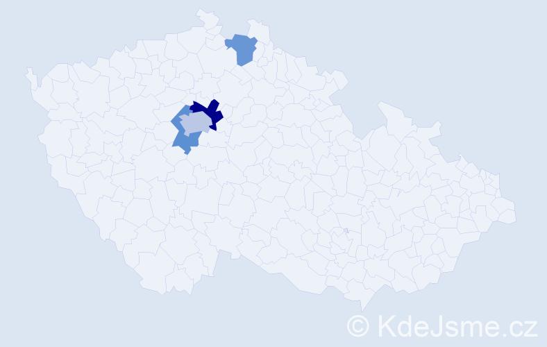 Příjmení: 'Abdallová', počet výskytů 6 v celé ČR