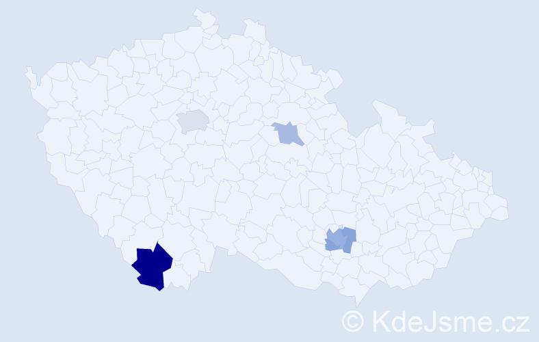 Příjmení: 'Klaschková', počet výskytů 10 v celé ČR