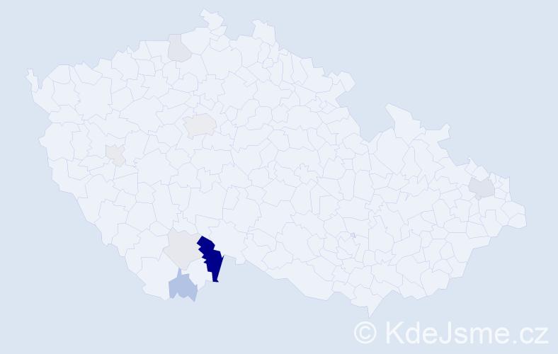 Příjmení: 'Kaiseršatová', počet výskytů 20 v celé ČR