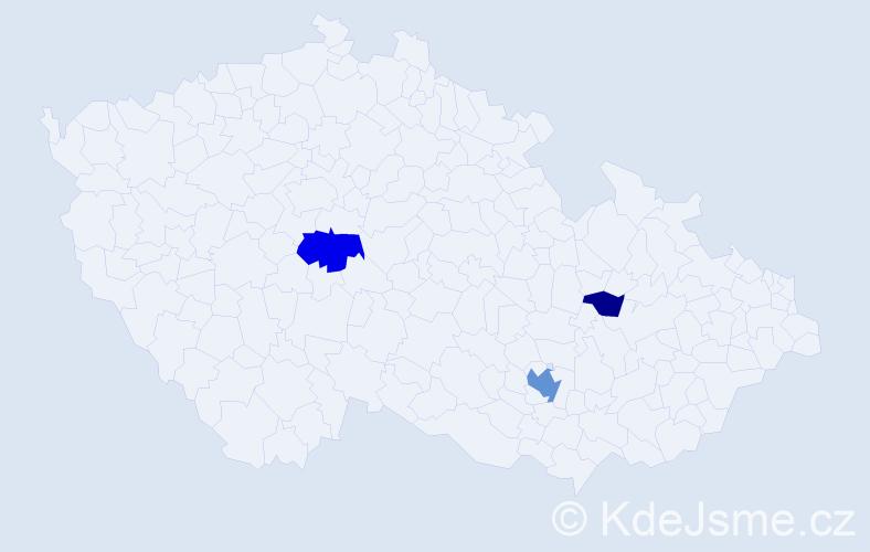 Příjmení: 'Hvasta', počet výskytů 7 v celé ČR