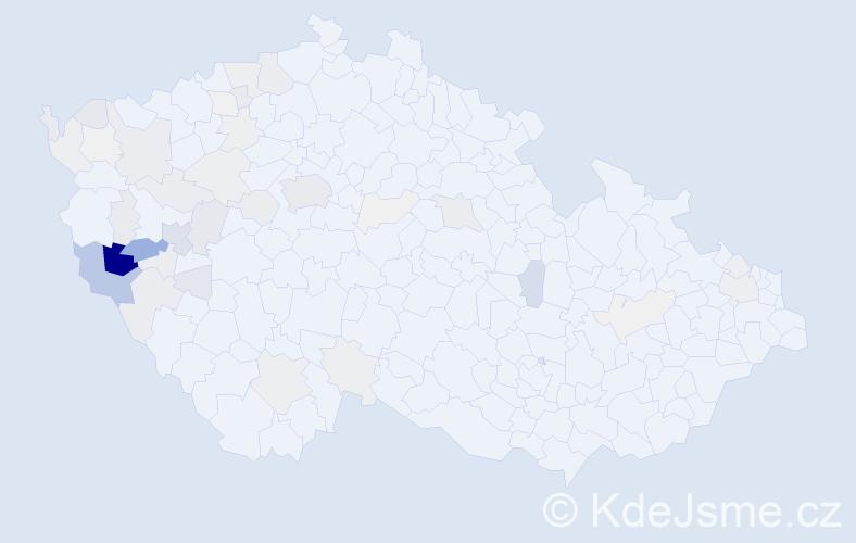 Příjmení: 'Herian', počet výskytů 164 v celé ČR