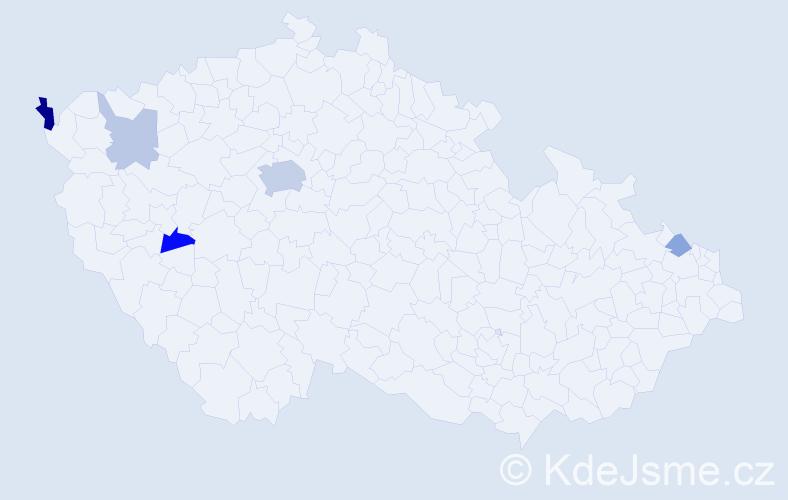 Příjmení: 'Banko', počet výskytů 12 v celé ČR