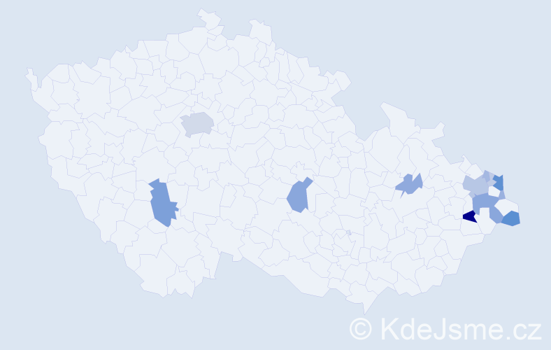 Příjmení: 'Gemrotová', počet výskytů 39 v celé ČR