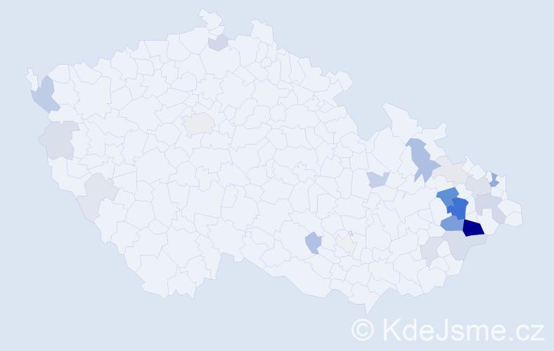 Příjmení: 'Bill', počet výskytů 81 v celé ČR