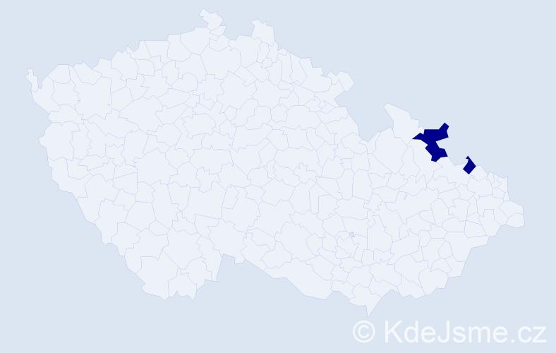Příjmení: 'Kalinowská', počet výskytů 6 v celé ČR