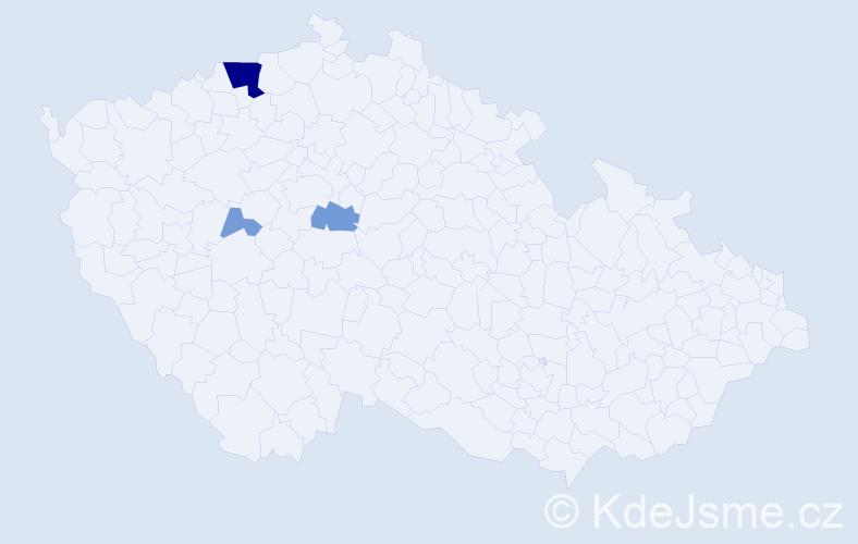 Příjmení: 'Ernygrová', počet výskytů 13 v celé ČR