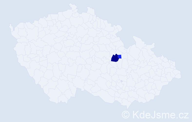 Příjmení: 'Ivanovici', počet výskytů 3 v celé ČR