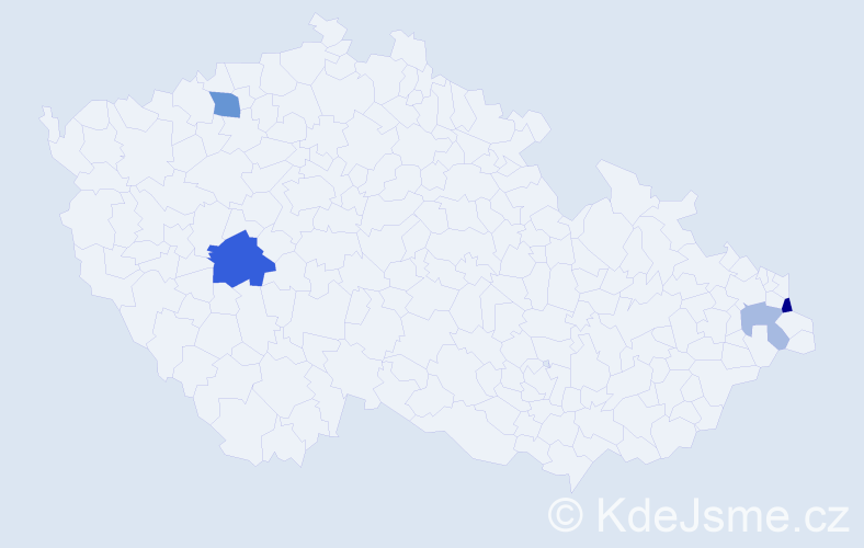 Příjmení: 'Blaszczyková', počet výskytů 8 v celé ČR