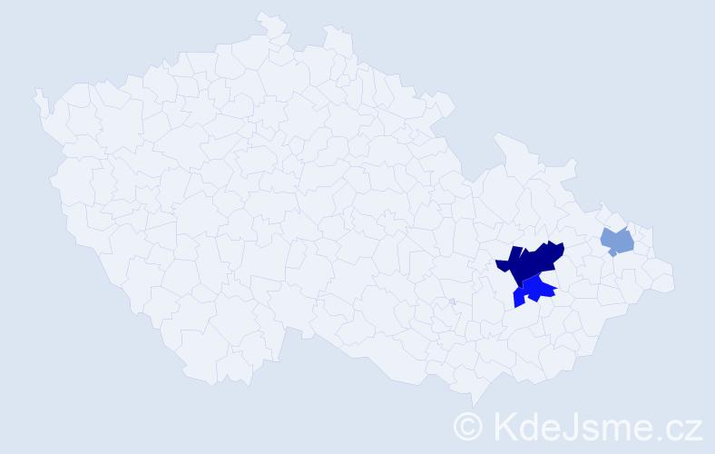 Příjmení: 'Janúrik', počet výskytů 4 v celé ČR