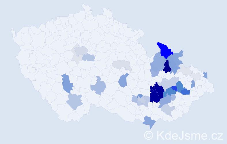 Příjmení: 'Lasovský', počet výskytů 159 v celé ČR