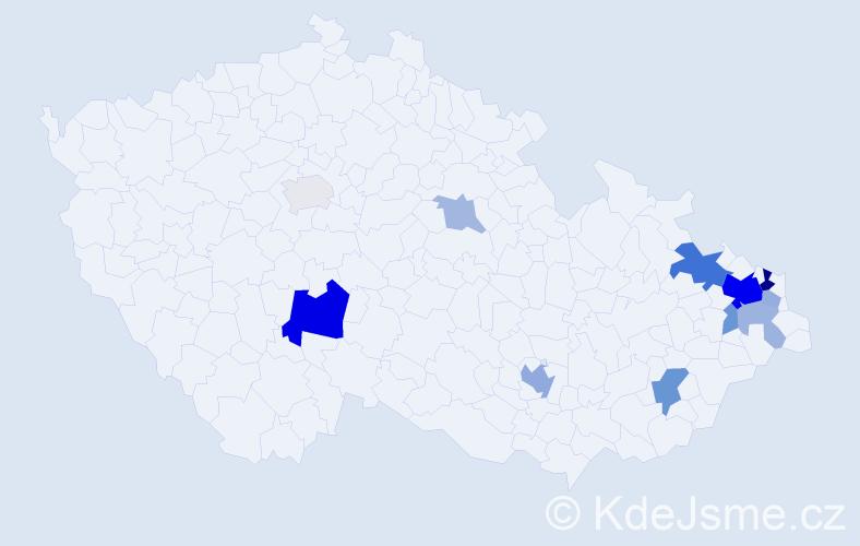 Příjmení: 'Grelová', počet výskytů 31 v celé ČR