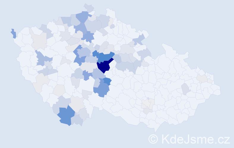 Příjmení: 'Kmoch', počet výskytů 486 v celé ČR