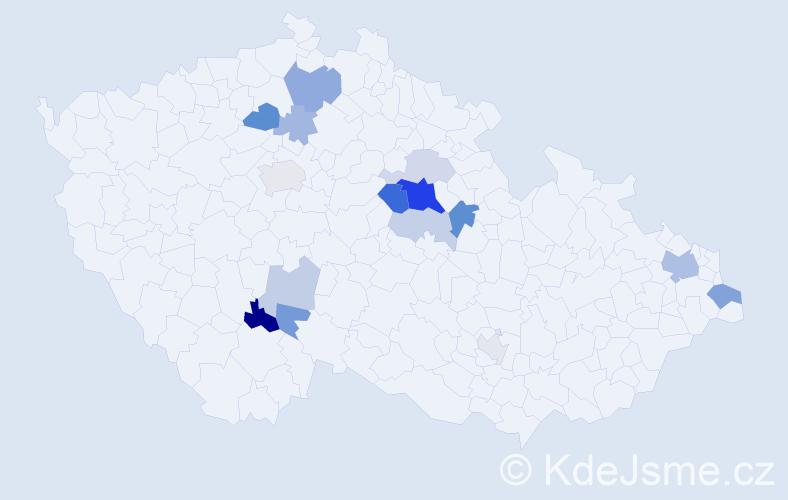 Příjmení: 'Antoch', počet výskytů 33 v celé ČR