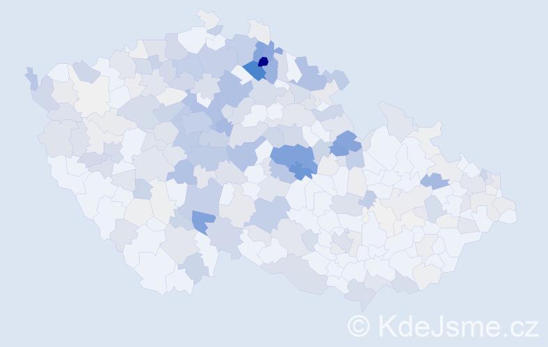 Příjmení: 'Brožek', počet výskytů 1234 v celé ČR