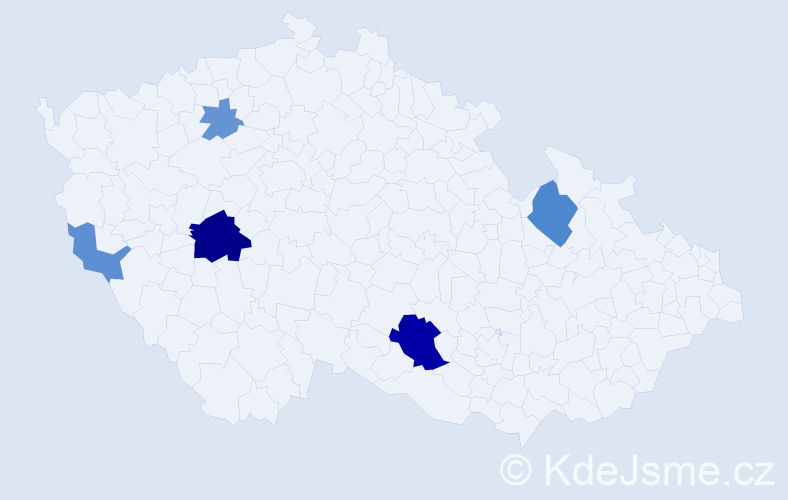 Příjmení: 'Ivaník', počet výskytů 12 v celé ČR