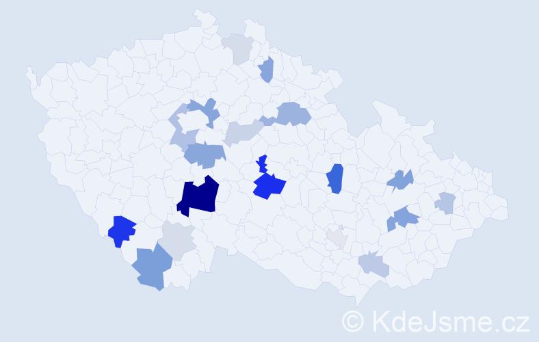 Příjmení: 'Breda', počet výskytů 46 v celé ČR