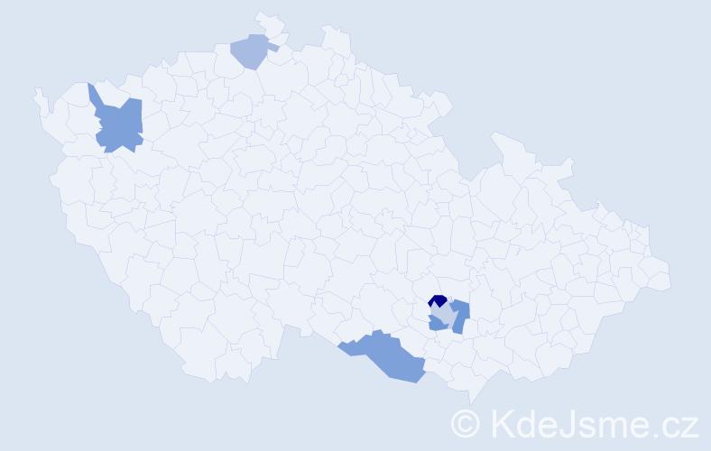 Příjmení: 'Gašparec', počet výskytů 11 v celé ČR