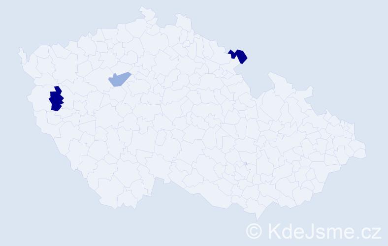 Příjmení: 'Ermerová', počet výskytů 3 v celé ČR