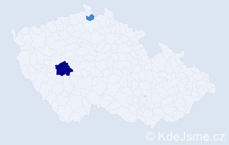 Příjmení: 'Gaľo', počet výskytů 6 v celé ČR