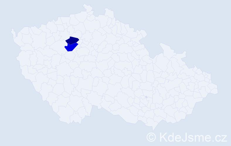 Příjmení: 'Dica', počet výskytů 3 v celé ČR