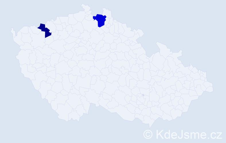 Příjmení: 'Iversen', počet výskytů 3 v celé ČR