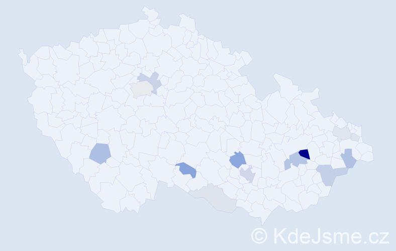 Příjmení: 'Frydrýšek', počet výskytů 31 v celé ČR