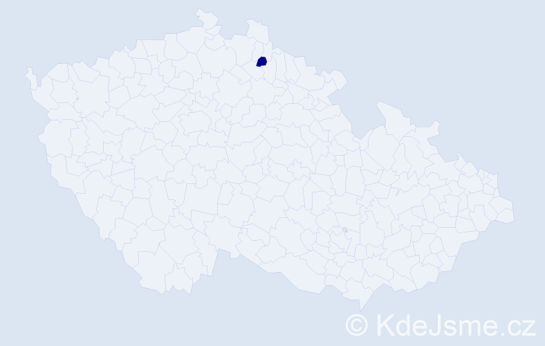 Příjmení: 'Jareis', počet výskytů 3 v celé ČR
