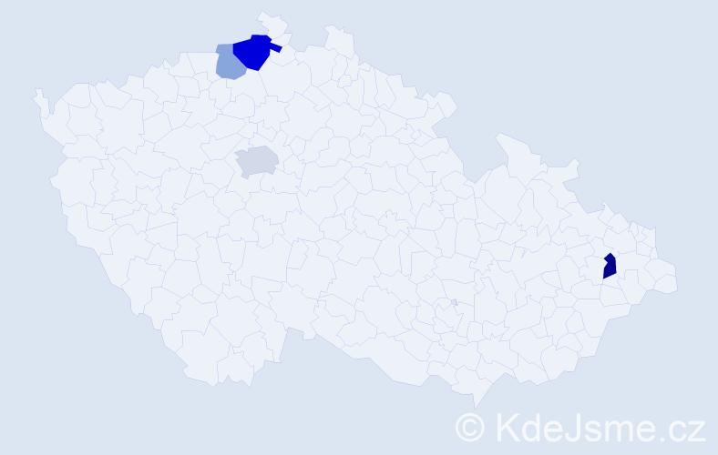Příjmení: 'Gellert', počet výskytů 8 v celé ČR