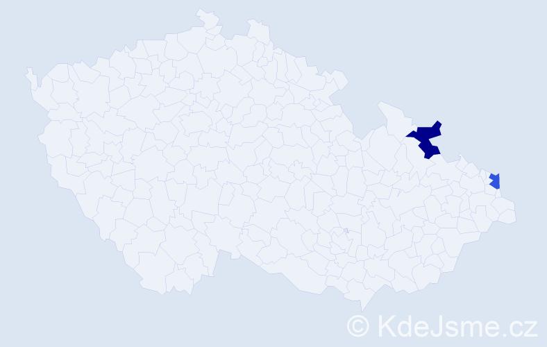 Příjmení: 'Bocenda', počet výskytů 2 v celé ČR