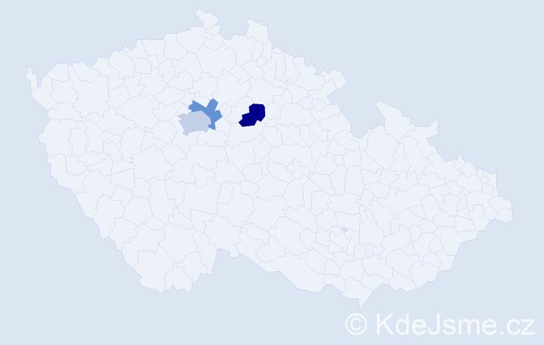 Příjmení: 'Ladomerská', počet výskytů 4 v celé ČR