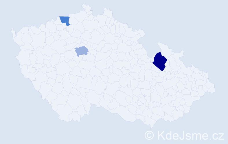 Příjmení: 'Bernau', počet výskytů 10 v celé ČR