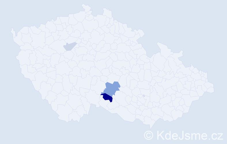 Příjmení: 'Barimová', počet výskytů 6 v celé ČR