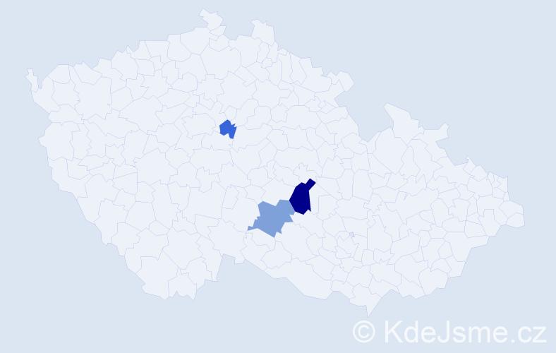 Příjmení: 'Fedasko', počet výskytů 7 v celé ČR