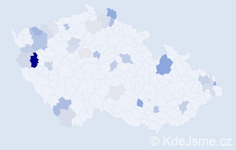 Příjmení: 'Demčáková', počet výskytů 78 v celé ČR