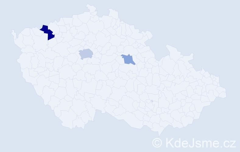 Příjmení: 'Agosztová', počet výskytů 6 v celé ČR